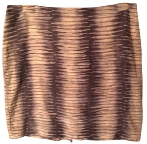 Kenneth Cole Skirt Tan print