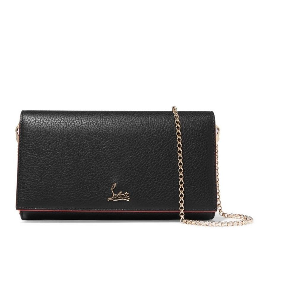 136ae2edf54 Christian Louboutin Wallet on Chain Clutch Boudoir Leather Cross Body Bag