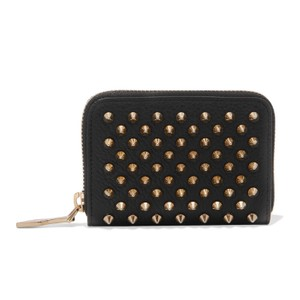 Christian Louboutin Panettone spiked zip around small leather wallet
