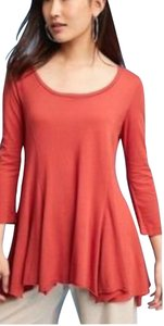 Anthropologie T Shirt Rust Red