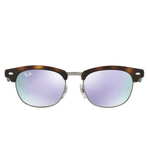 Ray-Ban Kids Clubmaster Sunglasses, Matte Tort/Lilac Mirror
