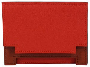 Hermès NEW HERMES Card Holder Leather Wallet