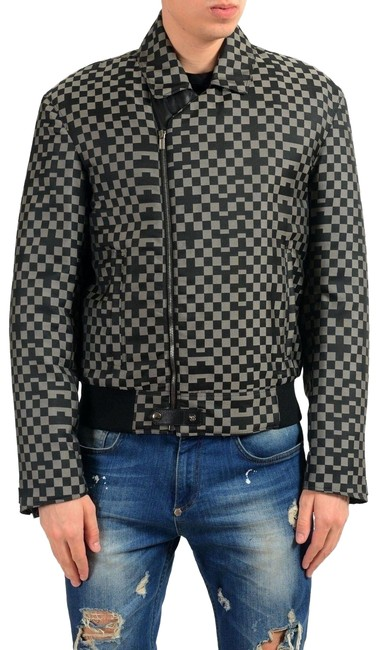 Item - Multi-color Men's Trimmed Checkerboard Insulated Jacket Size 4 (S)