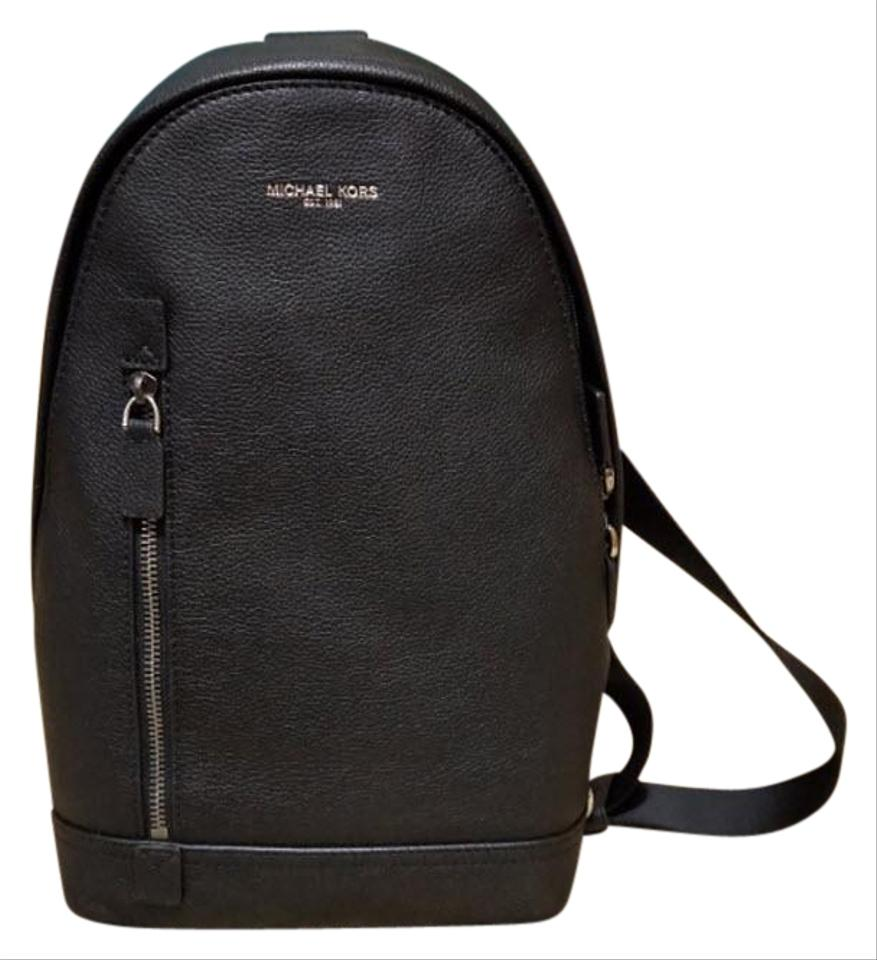 1b95d2cb5d33 Michael Kors Sling Pack Unisex Black Leather Backpack - Tradesy