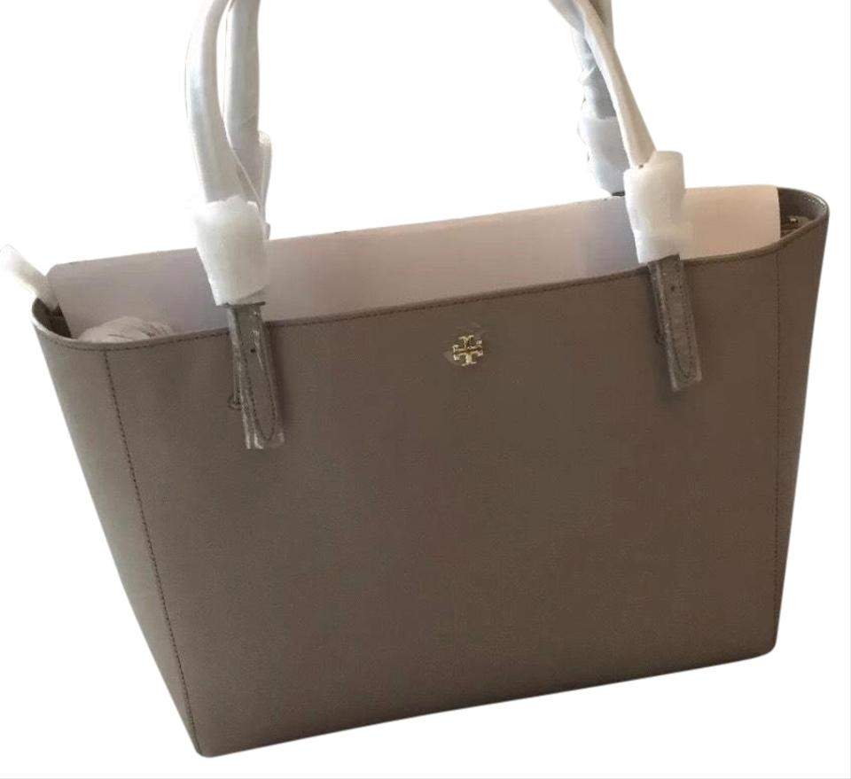 b1a223fcfbabe Tory Burch Emerson Buckle Gray Saffiano Leather Tote - Tradesy