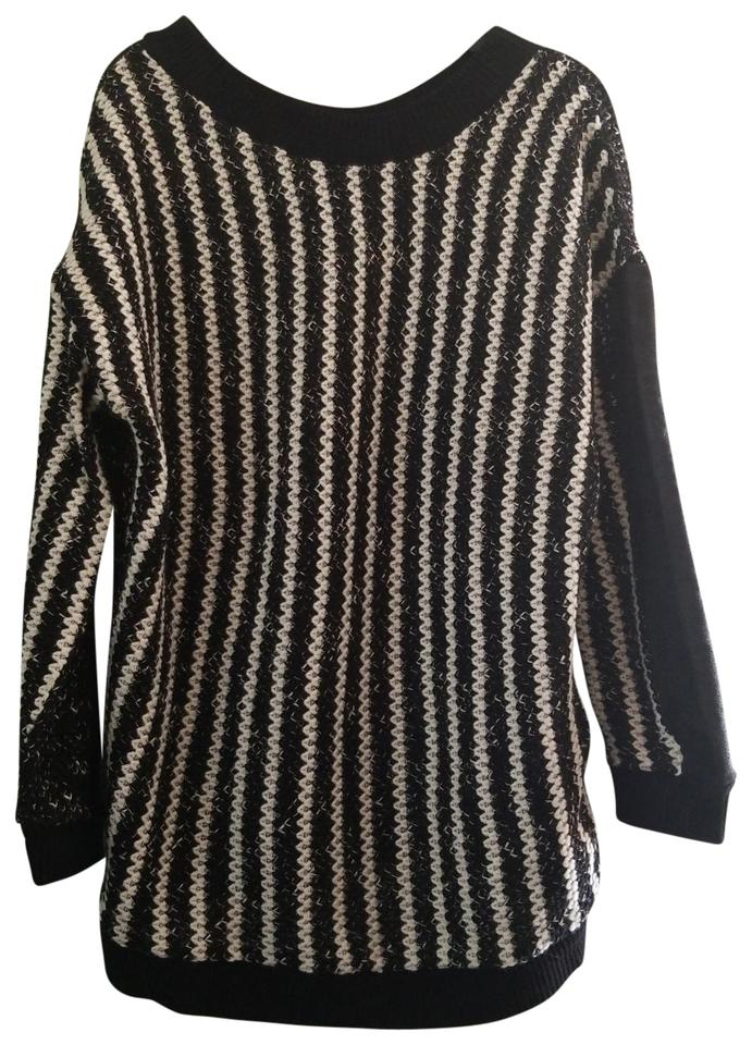 f6e444b9 Zara Black and White Sweater - Tradesy