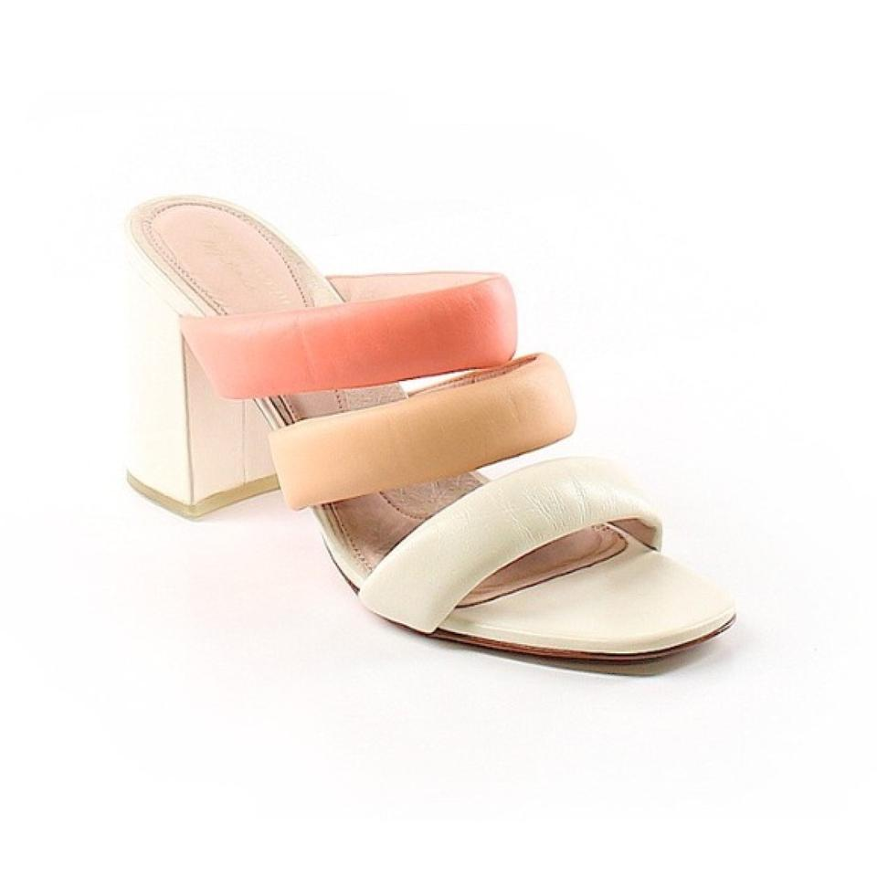 ac2084e80bb Matisse Peach Kate Bosworth Leather Pink Kelly Block Heels Slip ...