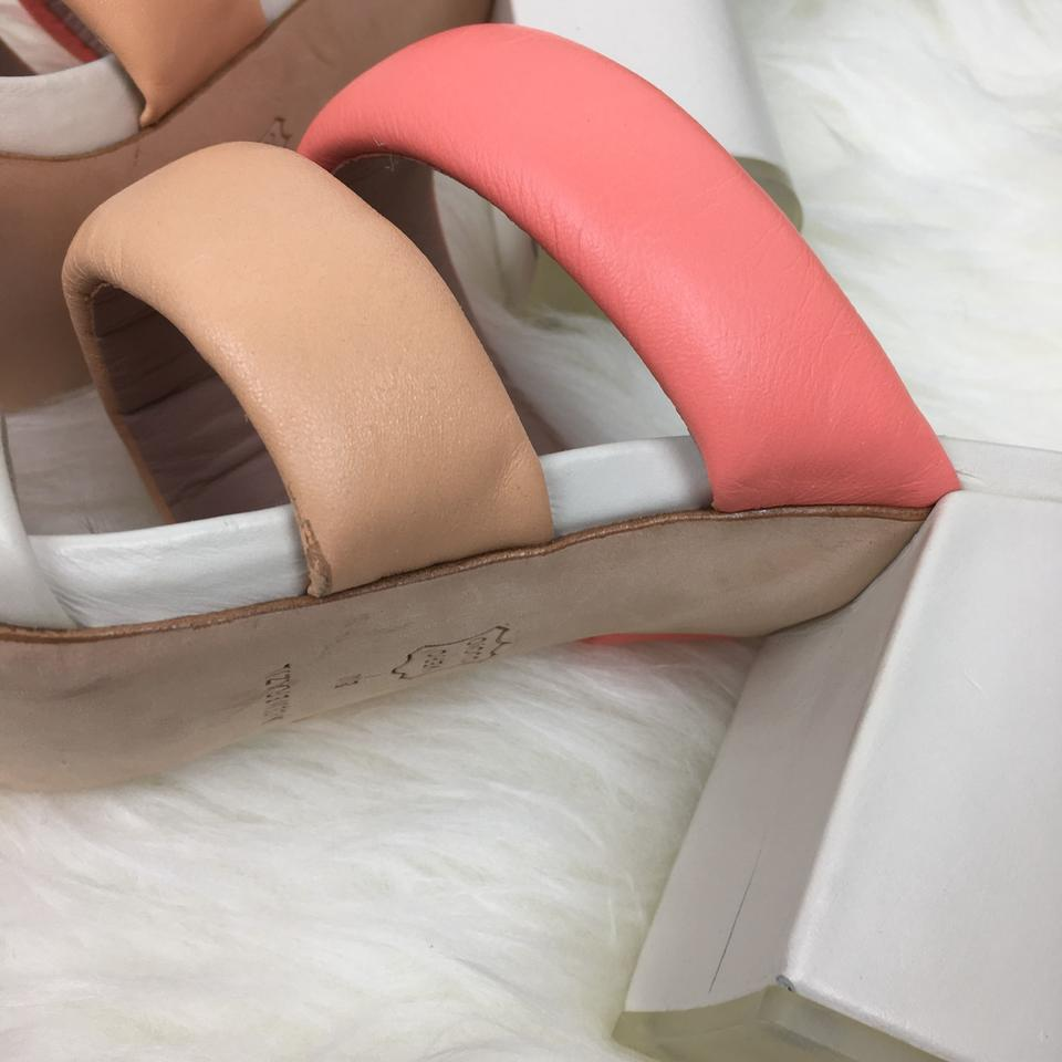 eab4f2ee210 Matisse Peach Kate Bosworth Leather Pink Kelly Block Heels Slip Sandals  Size US 9 Regular (M