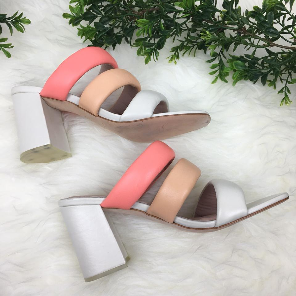 079ca83bfde Matisse Leather Color-blocking Boho PEACH Sandals Image 8. 123456789
