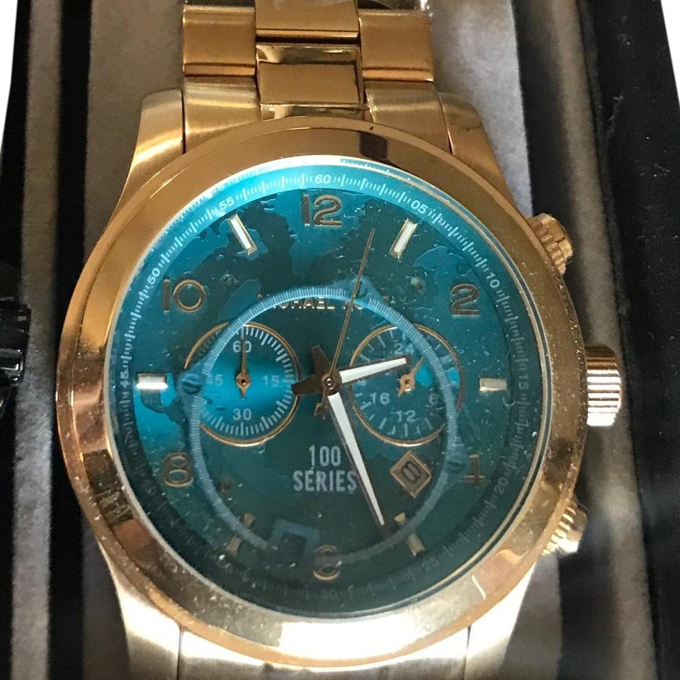 71b9305cfcbe Michael Kors Collection Watch Hunger Stop Oversized Runway Gold-Tone  Stainless Steel Watch Style  ...