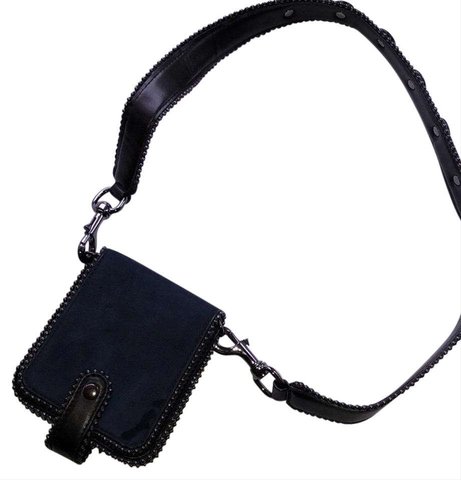 33527908bf7 Zara Small Navy Outer/Black Surround Faux Leather Cross Body Bag ...