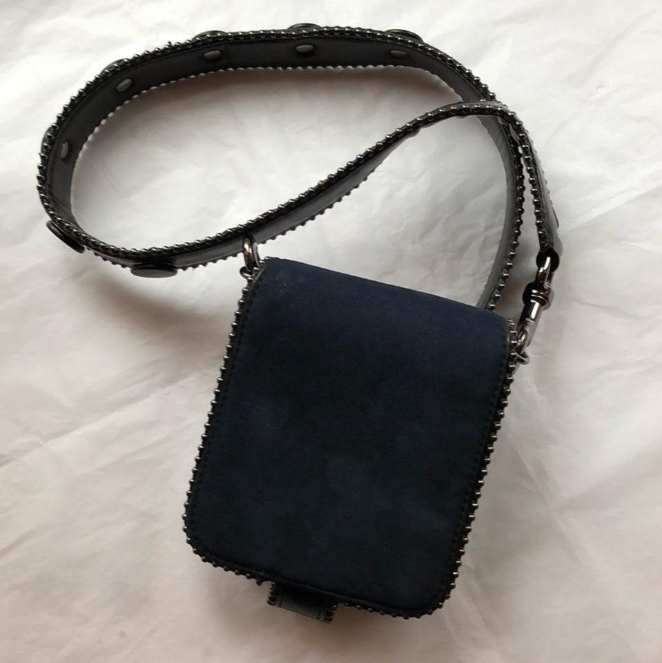 69200399ce Zara Small Navy Outer/Black Surround Faux Leather Cross Body Bag 24% off  retail