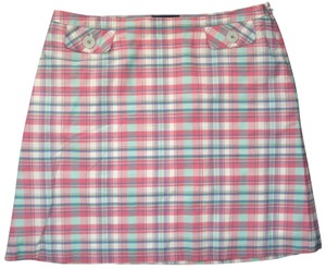 f6a1acc20f Boden Plaid Straight Cotton Mini Skirt Pink blue