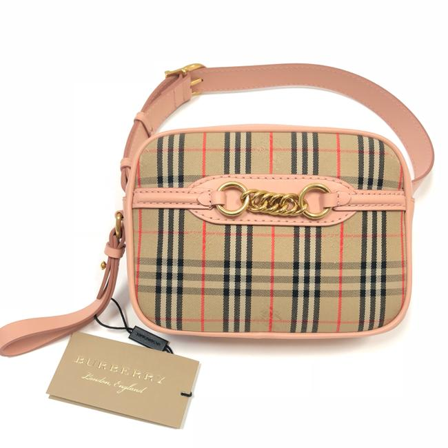 Item - Bum bag The 1983 Check Link with Leather Trim Peach Clutch