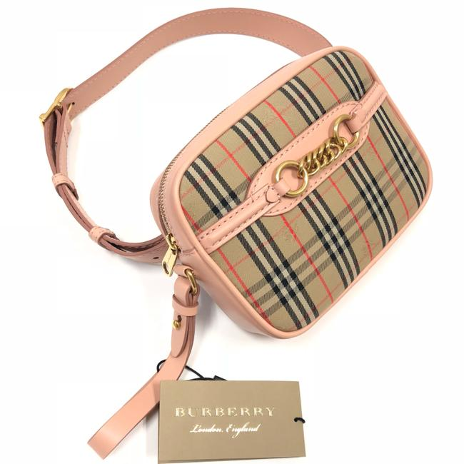 Item - Bum The 1983 Check Link with Leather Trim Peach Cross Body Bag