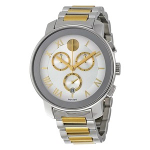 Movado $750 NWT Movado Bold Bold Two-Tone Stainless Steel Chronograph 3600280