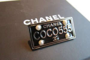 Chanel CHANEL COCO555 License Plate Brooch Pin New in box 100