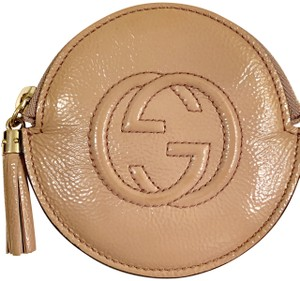 Gucci GG Soho logo Round zip around Coin Purse change case wallet