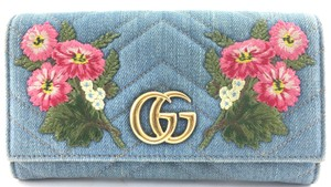 Gucci Marmont GG Floral Embroidered Continental