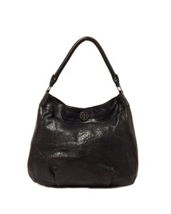 Tory Burch Leather Audra Distressed Leather Hobo Bag