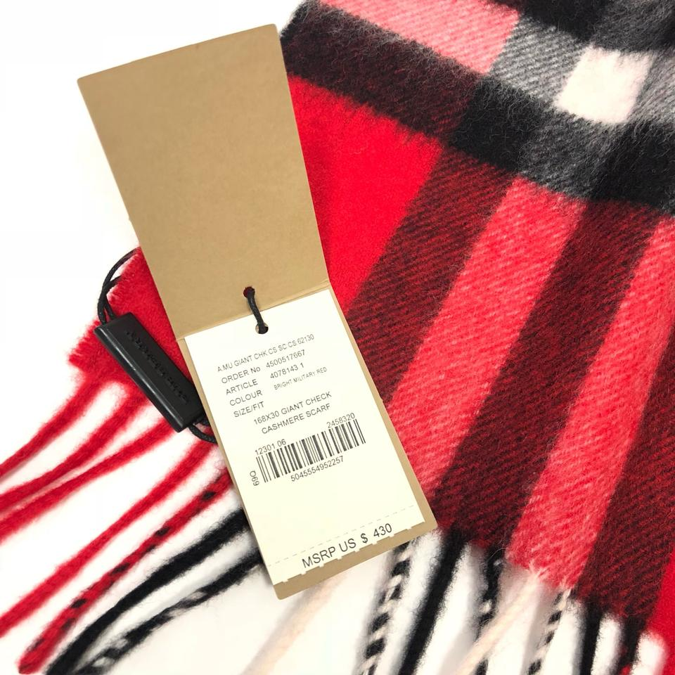 94fe154670 Burberry London Bright Military Red The Classic Giant Check Cashmere ...