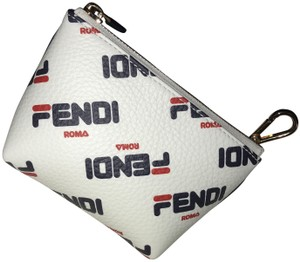 Fendi Fila Limited Edition White blue and red Clutch