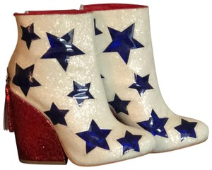 YRU red, white and blue Boots