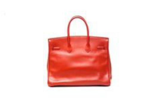 Hermès Birkin Leather Ardennes Tote in 35 - Rouge/Red