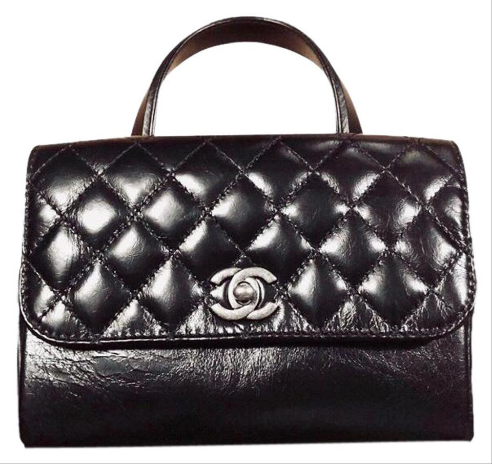 Chanel Classic Flap Top Handle and Strap Rhw Black Calfskin Leather Cross  Body Bag 02603c8f51a7c