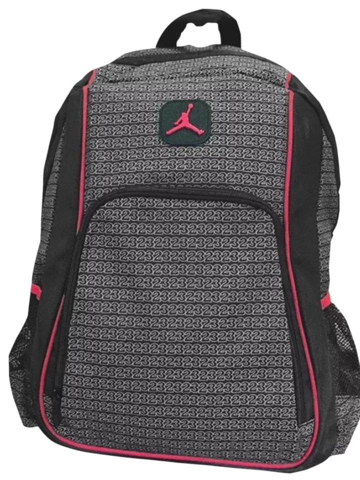 Air Jordan New Nike Jumpman Flight Laptop Bottle Pocket School Unisex Red  Black Nylon Backpack 29ce7e61ae825