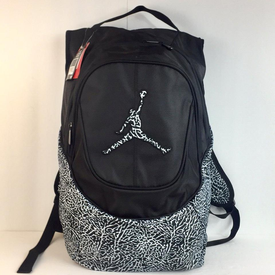 8e60b8e6e0e7 Air Jordan Backpack Air Jordan New Nike Jumpman White Leopard Laptop School  Uni