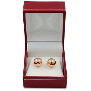 Gavriel's Jewelry Rose Gold Ball Circle Round Studs 14K