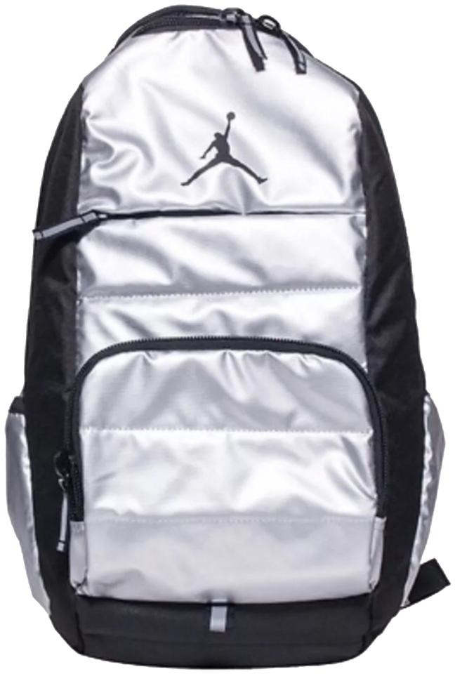 2e08bd0f8200 Air Jordan Nike Travel Gym School Black silver W  Laptop Padded ...
