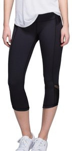Lululemon Lululemon Black Mesh Just Breathe Crop Leggings