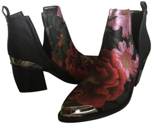 Jeffrey Campbell Brocade Ankle Black/red Boots