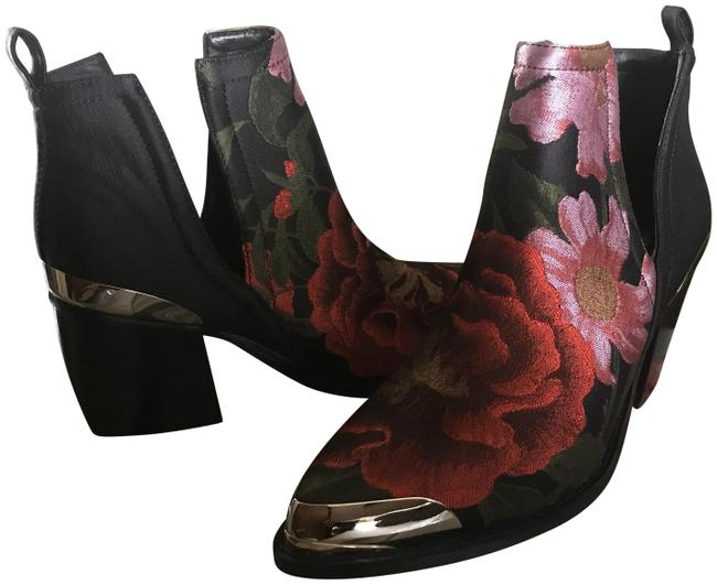 Jeffrey Campbell Black/Red Brocade Boots/Booties Size US 6.5 Regular (M, B) Jeffrey Campbell Black/Red Brocade Boots/Booties Size US 6.5 Regular (M, B) Image 1
