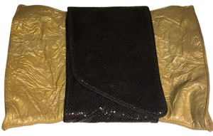 Danielle Nicole Gold and Brown Clutch