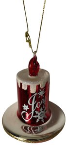 Lord & Taylor Glass Christmas Decoration Winter Charms Candle