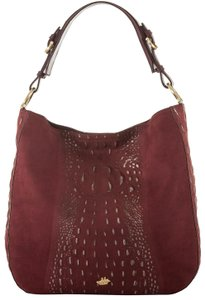 Brahmin Statement Cranberry Slouchy Hobo Bag