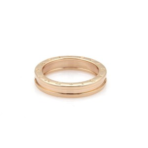 BVLGARI Bulgari B Zero-1 18k Rose Gold 5mm Wide Band Ring Size 50-US 5.5