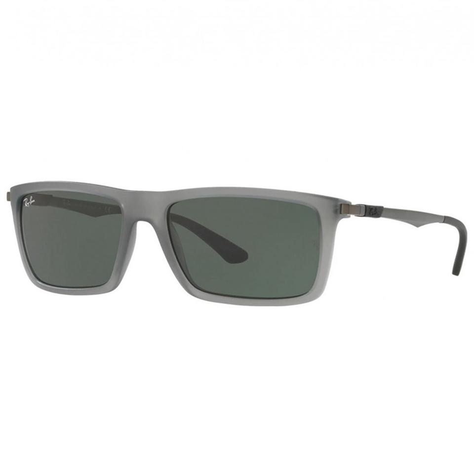 fbf12b249a Ray-Ban Grey Gunmetal Frame   Green Lens Unisex Rectangular Sunglasses