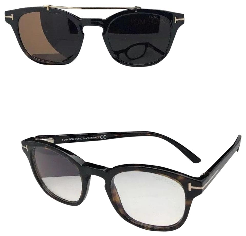 9f439c340a Tom Ford New Tf 5532-b 52e 49-21 Tortoise Frame W  Brown Clip On ...