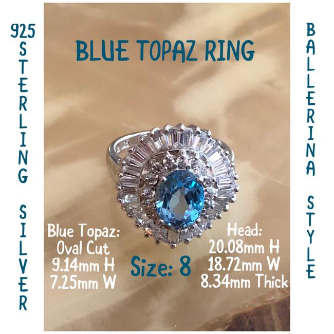 Blue and Silver 925 Ster 8 Ring Blue and Silver 925 Ster 8 Ring Image 1