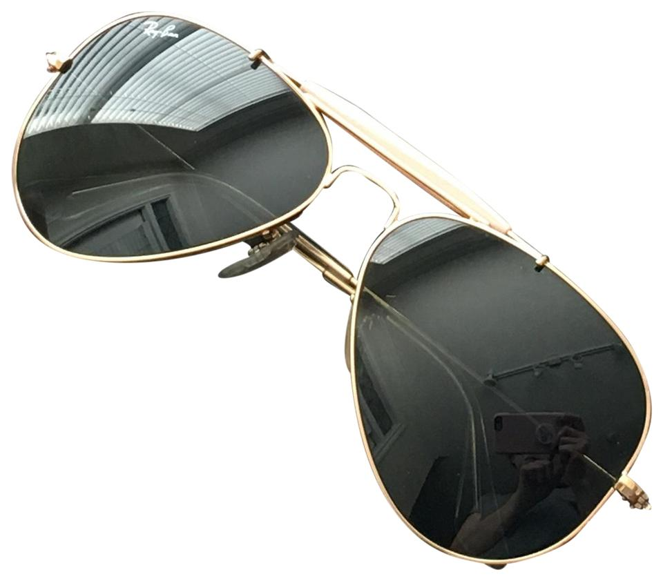19f3558d88 Ray-Ban Gold Frame Green Classic G-15 Lenses Outdoorsman Ii (Rb3407)  Sunglasses