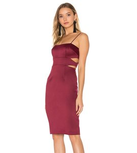 Cynthia Rowley Cut-out Sheath Spaghetti Straps Dress