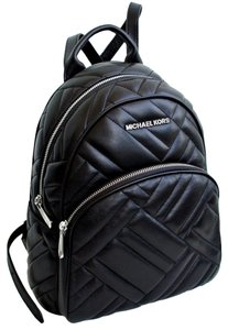58d6e8b9cfdc7 Michael Kors Abbey Medium Quilted Rhea Black Leather Backpack 57% off retail