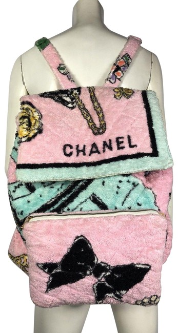 Item - Vintage 1994 Rare Limited Edition Towel Jumbo Beach Pink Terry Cloth Backpack