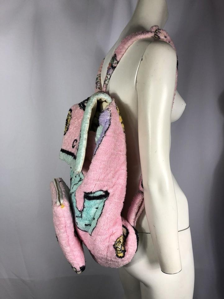 21d2ef8c3f11 Chanel Vintage 1994 Rare Limited Edition Towel Jumbo Beach Pink Terry Cloth  Backpack - Tradesy