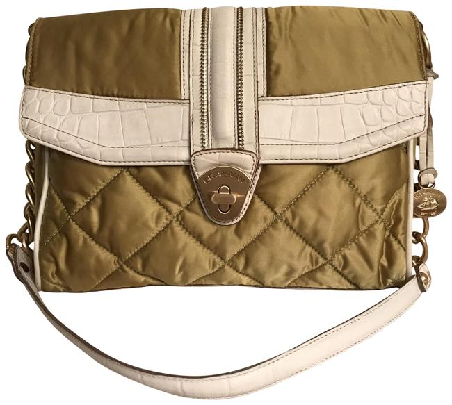 Item - Rare Didi Quilted Leather Green White Satin Shoulder Bag
