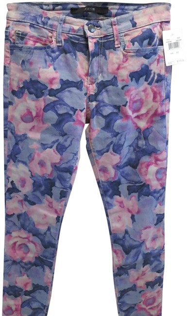 Item - Tainted Rose The High Water Print Crop Skinny Jeans Size 27 (4, S)